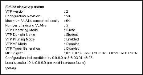 CCNA3 v6.0 Final Exam A 009