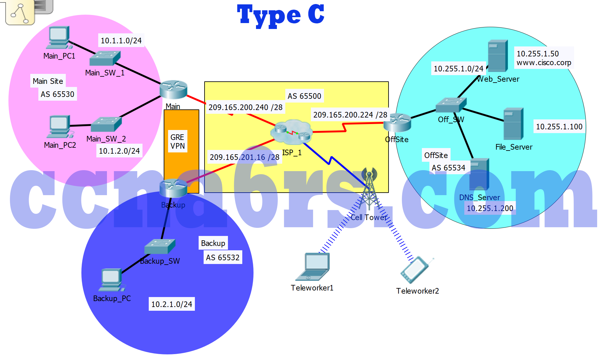 Chapter 3 Packet Tracer Skills Assessment - PT Type C